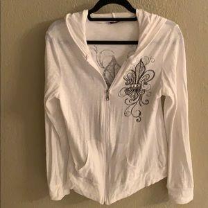 TParty zip hoodie white Large